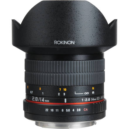 Rokinon 14 mm F 2.8 Lens Canon EF