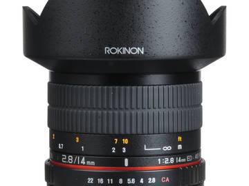 Rent: Rokinon 14 mm F 2.8 Lens Canon EF