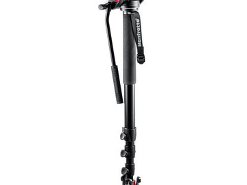 Manfrotto 562B-1 Fluid Video Monopod + Manfrotto 502HD head