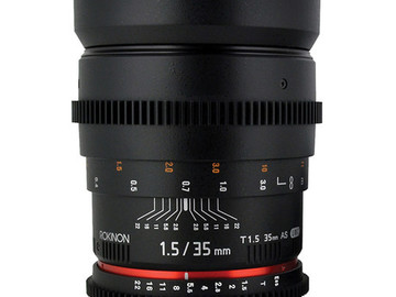 Rent: Rokinon 35mm T1.5 Cine AS UMC Lens for Sony E Mount