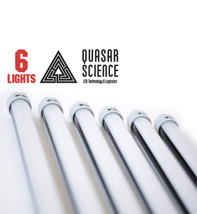 (6) 4ft Quasar Q-LED 3000/5600K lights