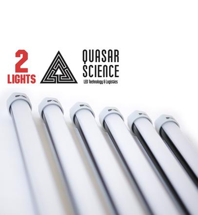 (2) 4ft Quasar Q-LED 3000/5600K lights + Dimmer