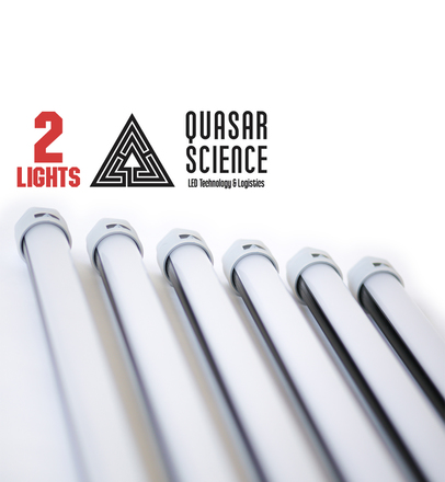 (2) 4ft Quasar Q-LED 3000/5600K lights + Dimmer