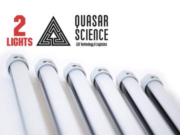(2) 4ft Quasar Q-LED 3000/5600K Switchable tubes