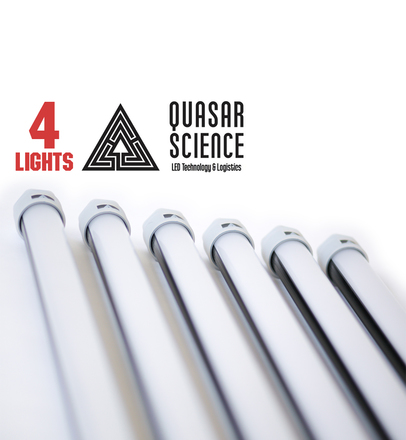 (4) 4ft Quasar Q-LED 3000/5600K lights + Dimmer
