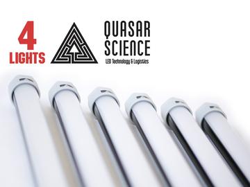 (4) 4ft Quasar Q-LED 3000/5600K Switchable tubes