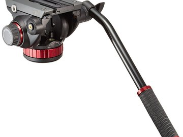 Rent: Manfrotto 502HD Pro Video Head & 562B-1 Fluid Video Monopod