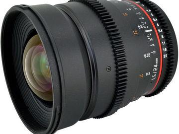 Rent: Rokinon 24mm T1.5