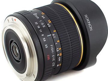 Rent: Rokinon 8mm Ultra Wide f/3.5 Fisheye Lens for Canon EF