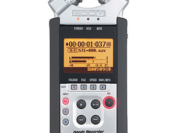 Rent: Zoom H4nSP 4-Channel Handy Recorder w/ Clear Case