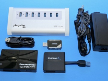 Rent: 7-port USB 3 Hub With Card Readers for DIT (B)