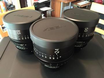 Rent: Set of Xeen Cinema Primes 24mm/35mm/50mm/85mm T1.5