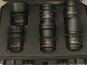 Rokinon Cine 6 Lens Set UMC Canon EF Mount