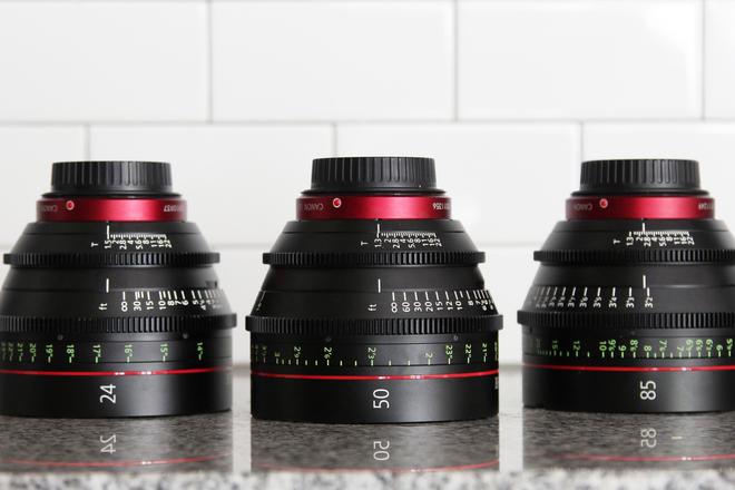 Canon CN-E Cinema Prime 3 Lens Set  (24, 35 ,50, OR 85)