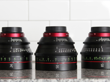 Rent: Canon CN-E Cinema Prime 3 Lens Set  (24, 35 ,50, OR 85)