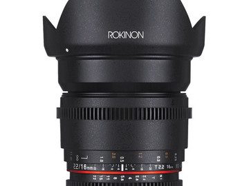 Rent: Rokinon 16mm T2.2 Cine DS Lens for Sony E Mount for APS-C