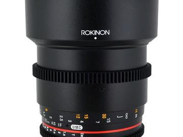 Rent: Rokinon Cine DS 85mm T1.5 - EF Mount