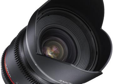 Rent: Rokinon 16mm T2.2 Cine DS Lens