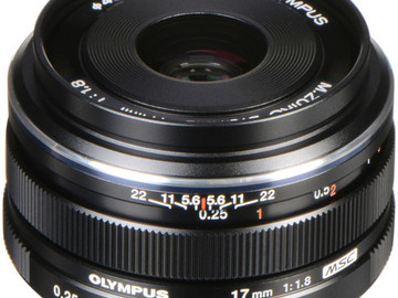 Rent: Olympus M.Zuiko Digital 17mm f/1.8 MFT Lens