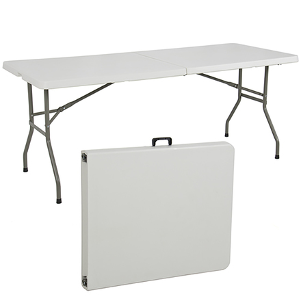 Three 6ft Fold In Half Tables (3)