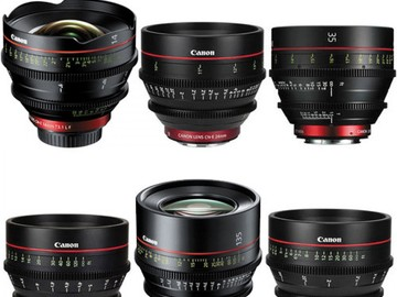 Canon CN-E Cinema Prime 6 Lens Set