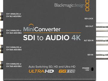 Rent: Blackmagic Design Mini Converter SDI to Audio 4K