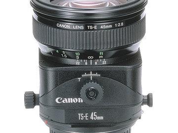 Canon 45mm tilt shift lens
