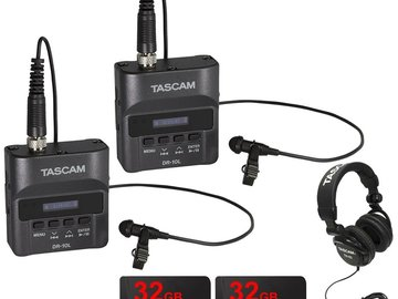 Tascam DR-10L Digital Audio Recorder with Lavalier Mic