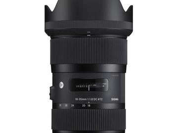 Rent: Sigma 18-35mm f/1.8 DC HSM Art w/Tiffen ND .6 Filterz