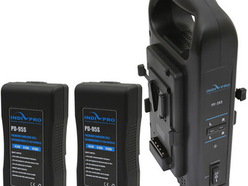 indieprotools 2x v mount battery and dual charger kit