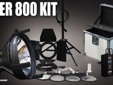 Rent: K 5600 Joker Bug 800 HMI with lenses, soft box and grid