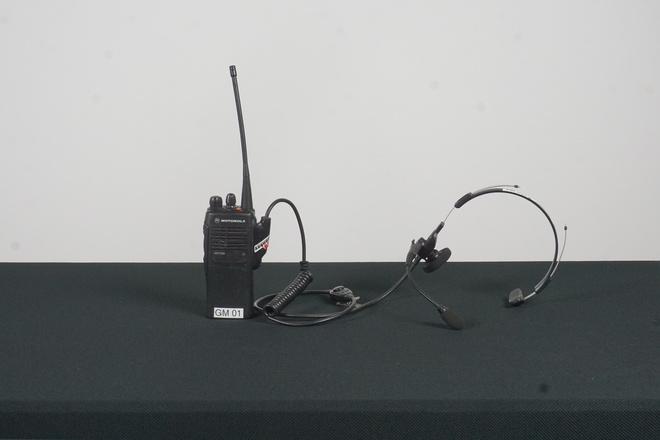 Ten Motorola Two-Way Radio w/Headset (1 of 2)