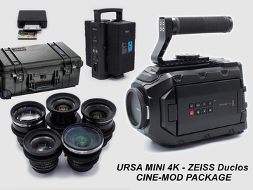 Rent: Black Magic URSA Mini 4K EF Package with Zeiss Duclos Primes