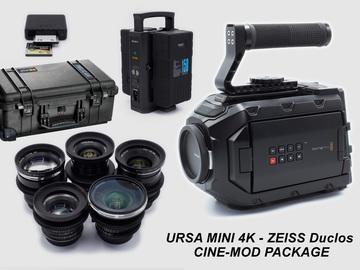 Rent: Black Magic URSA Mini 4K EF Package with Zeiss Duclos Primes