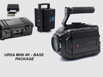 Rent: URSA MINI 4K EF base Package. 2 Batt, 2 Cfast charger includ
