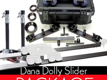Rent: Complete Dana Dolly Slider Package with Track Kit & Stands