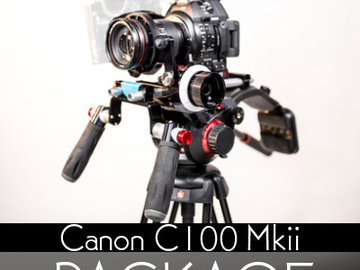 Rent: Canon EOS C100 MKII Cinema Camera  Package w/ Tripod + Lens