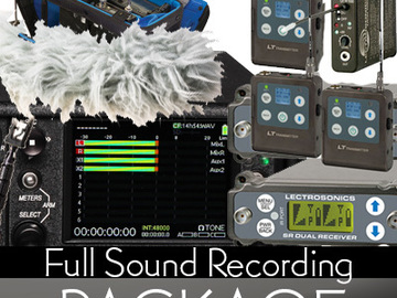 Rent: Full Sound Devices Package w/ 4 Lectrosonic Lav's & 416 Boom