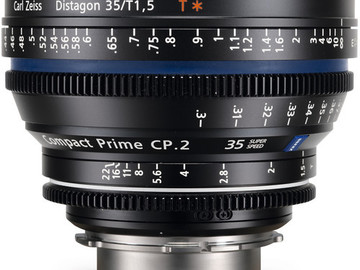 Rent: Zeiss CP.2 Superspeed 35mm Prime Lens (EF-Mount)