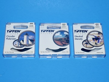 Rent: Tiffen 46mm Lens Filter Set With Polarizer, 2 x ND