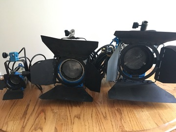 Rent: ARRI Tungsten Fresnel Lights: 1k, 650w, 150w, C-Stands