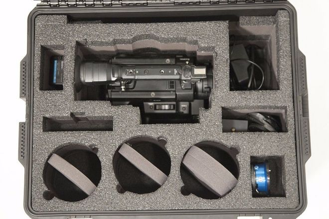Sony F3 Camera with PL, Canon EF, and Nikon Adapters