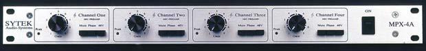 Sytek MPX-4Aii (4-Channel XLR Microphone Preamp)