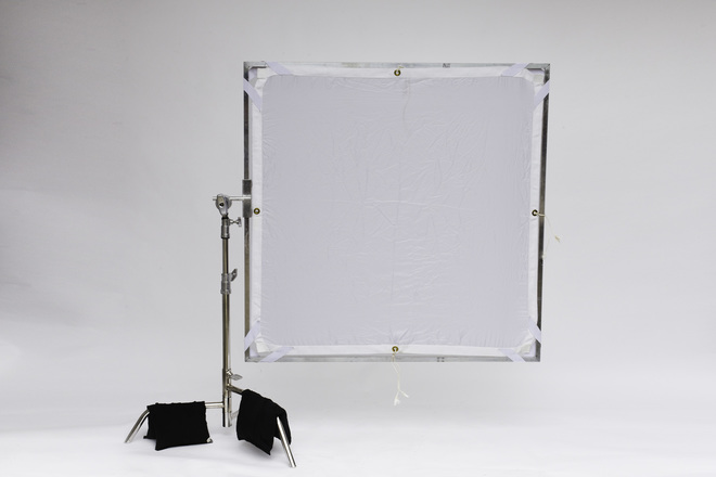 4x4 frame with rags, Diffusion and scrims
