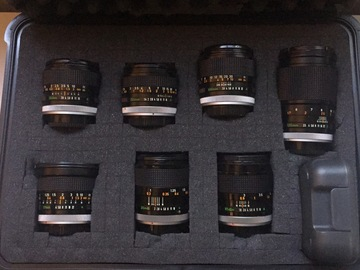 Rent: Canon Vintage FD Lens Set - 7 PRIMES - Mounts & Extras