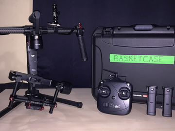 Rent: DJI Ronin-M Stabilizer, 2 Batteries, Case, Tilt Extensions