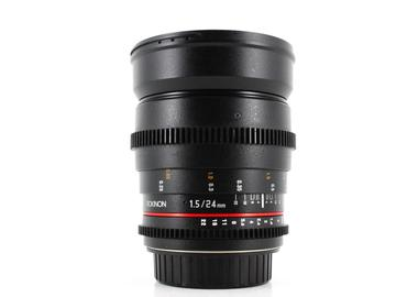 Rent: Rokinon 24mm T1.5 ED AS IF UMC, Canon Fit