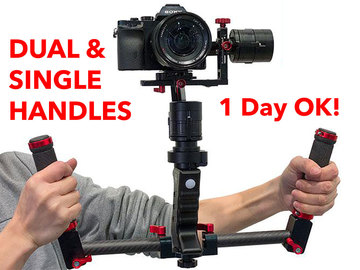 Rent: Came TV Single 3-Axis Gimbal w/ Dual & Single Handles (A)