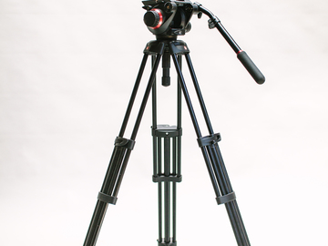 Rent: Manfrotto 504HD and 546GBK Midi Twin System Tripod