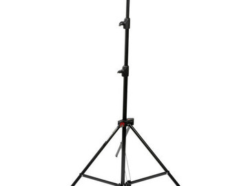 Rent: Aluminum Light Stand (Black) - 7.7'